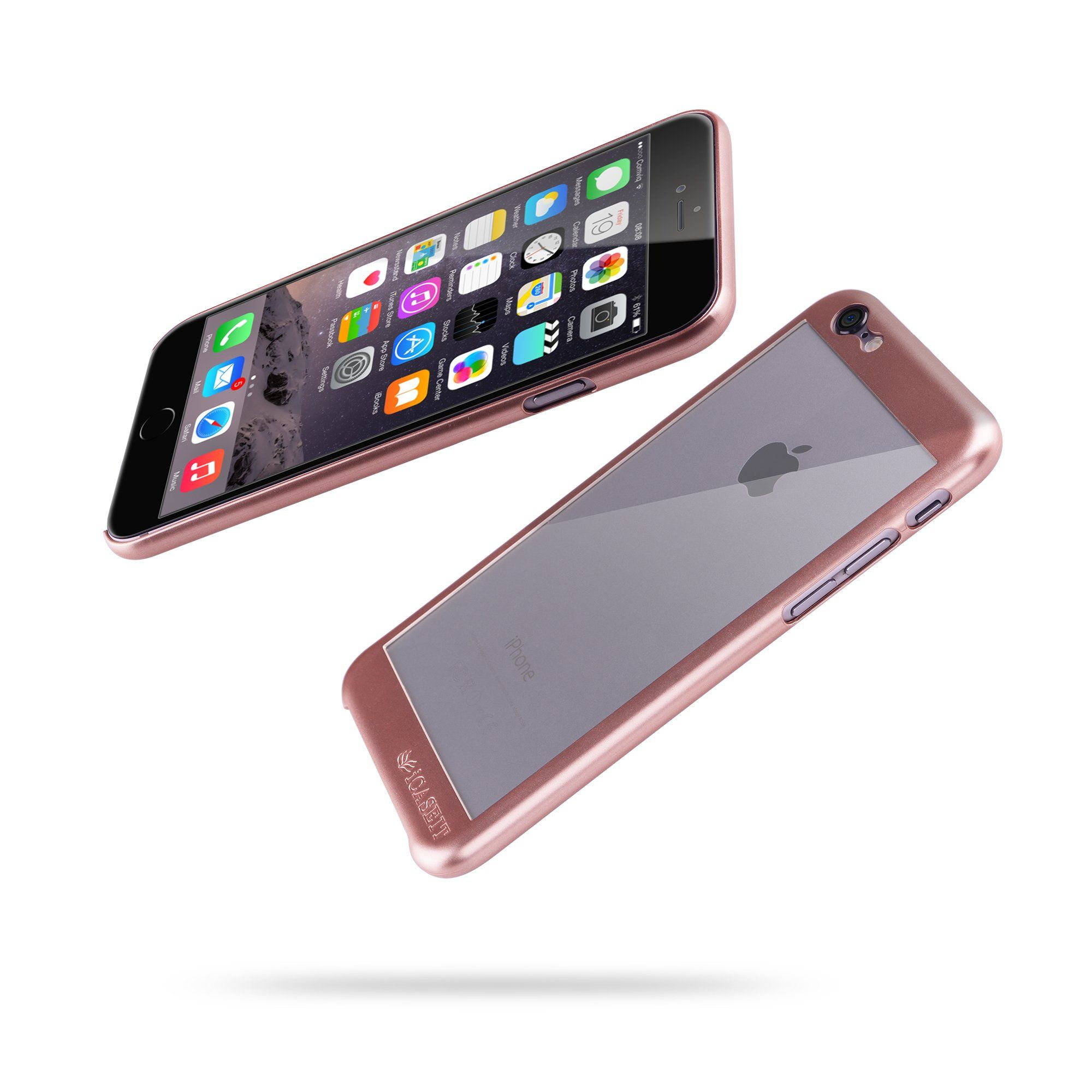 Amazon iPhone 6s Case iCASEIT Bi Glass Case Slim case with Strengthened Glass back ly 0 8mm in Thickness