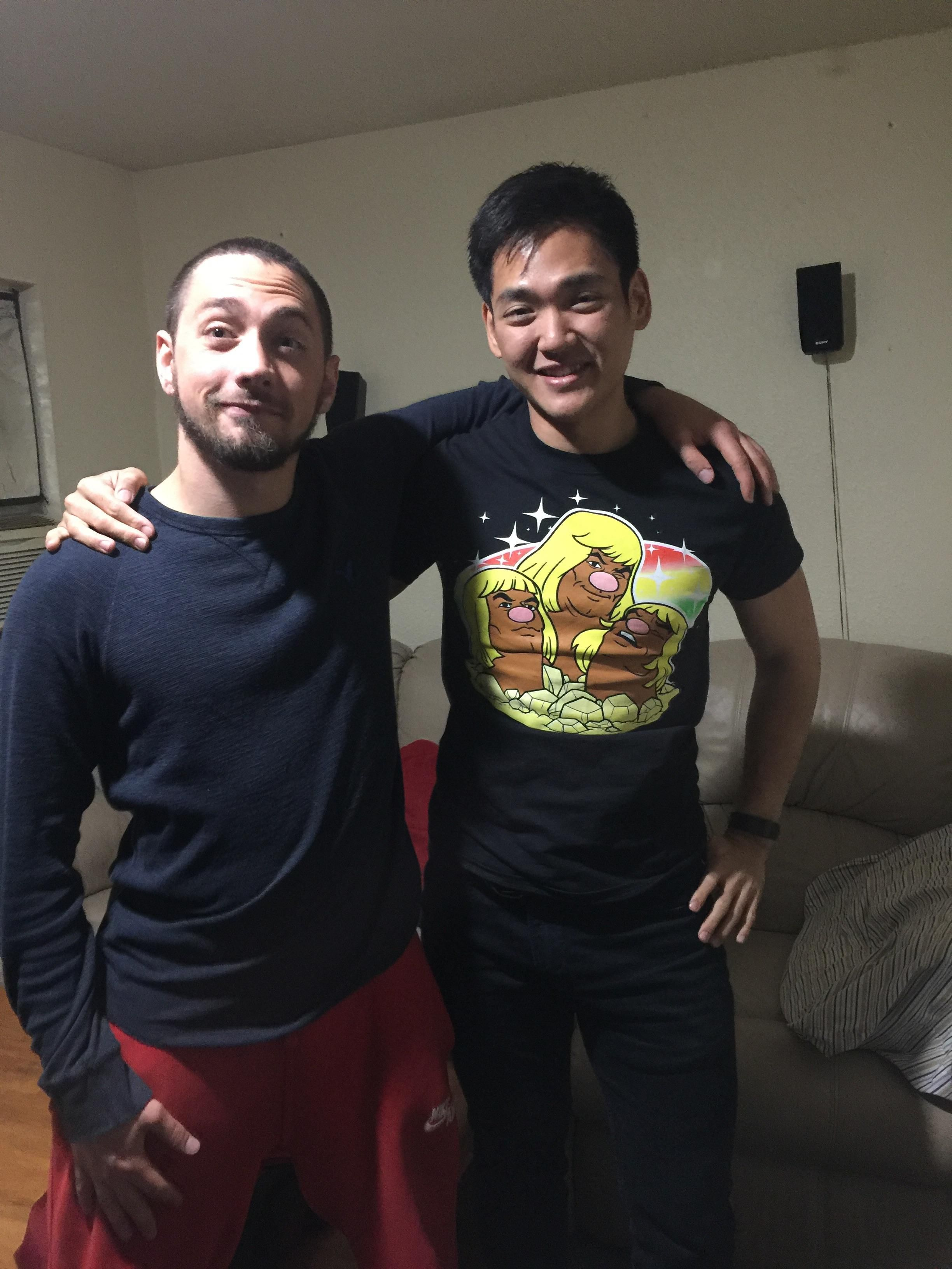 My bro and I met on Warcraft 3 in 2005; we've been friends since and stayed in contact. We finally met last night when I heard he was in my city!