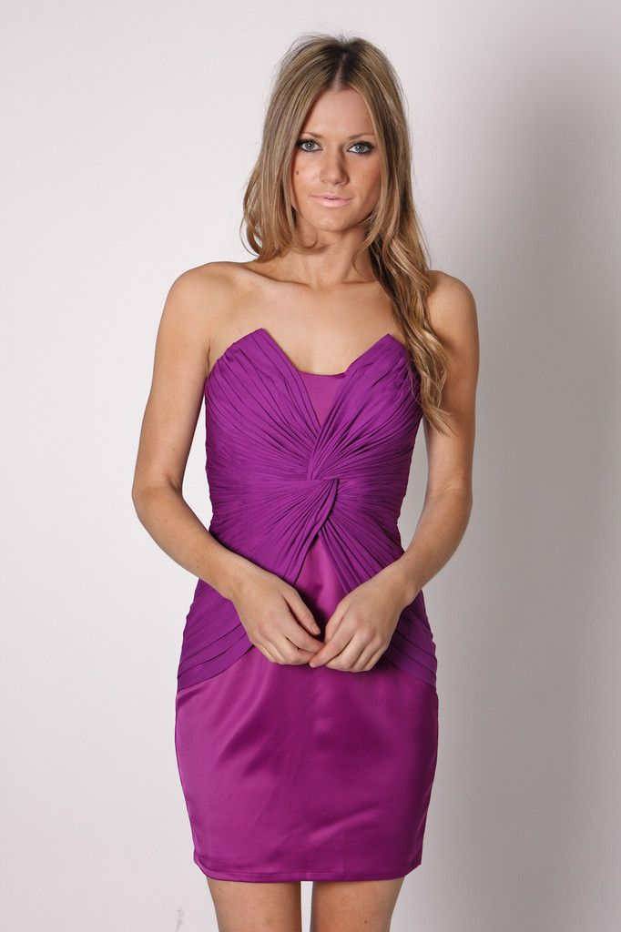 morning stroll purple satin cocktail dress | Please Touch Museum ...