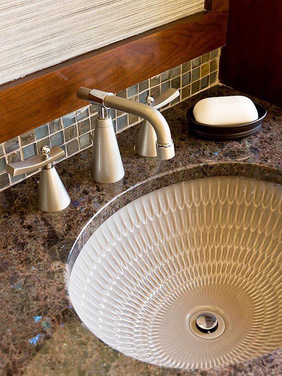 Custom Creation Like Tile Colors On Back Plush Don T Like Counter Or Sink Undermount Bathroom Sink Sink Bathroom Sink