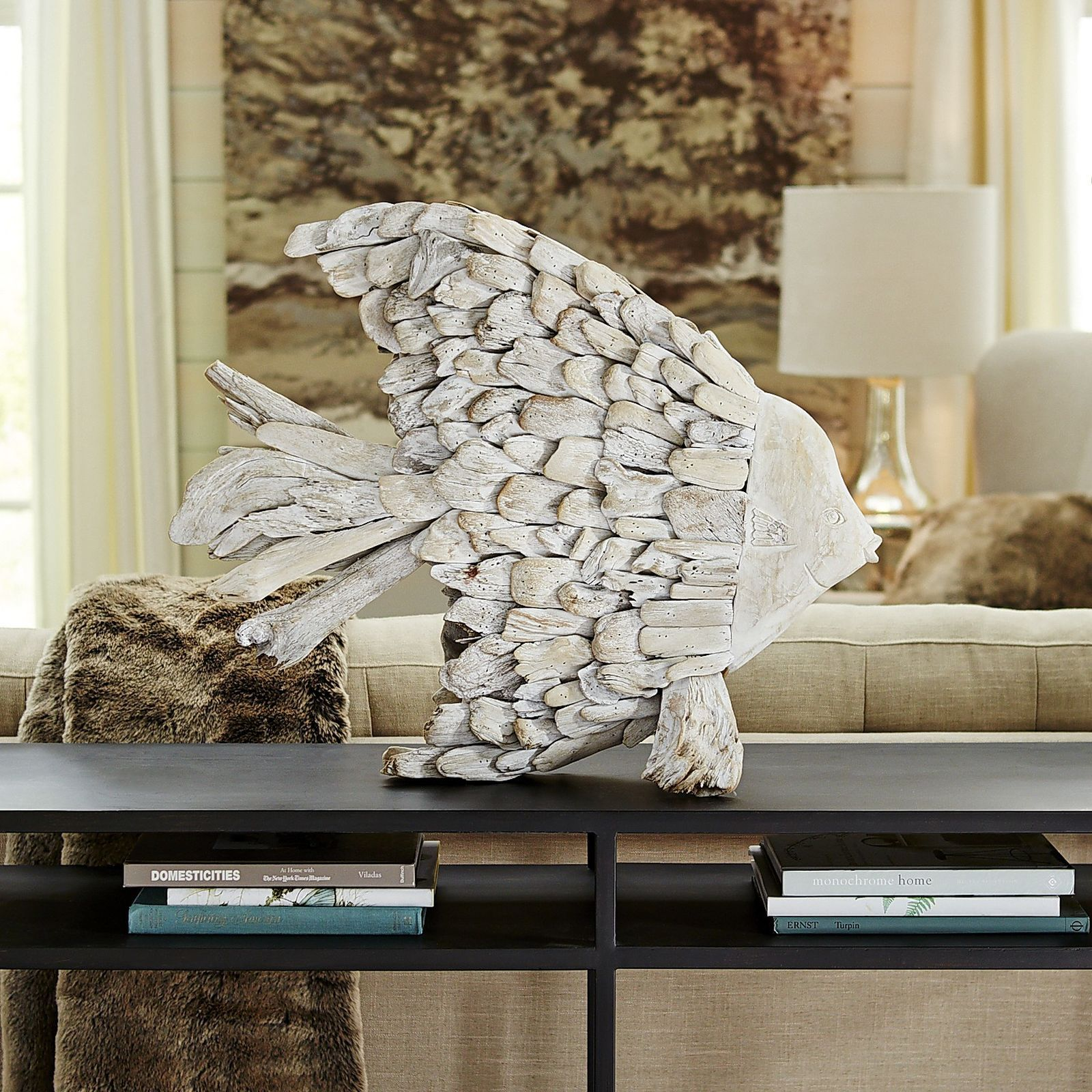 Washed Wood Fish Sculpture - Pier 1 Imports