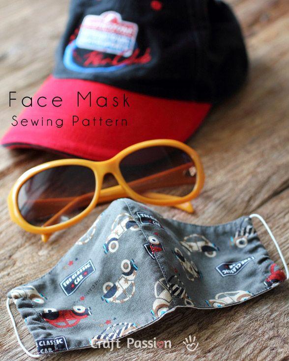 Face Mask Pattern - Free Sewing Patter | Freebooks, Nähen und Muster