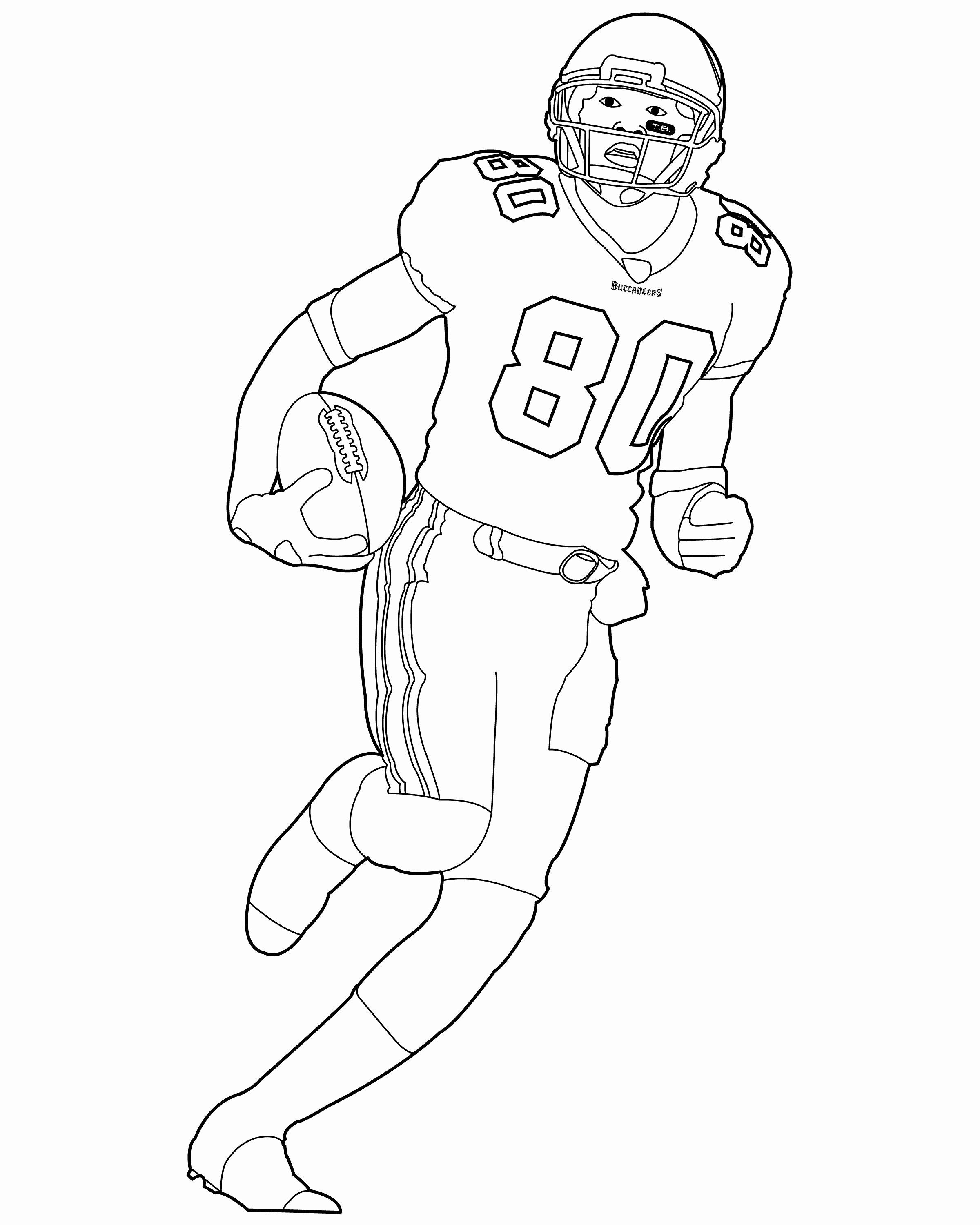 Coloring Pages Football Player New Football Player Coloring Page