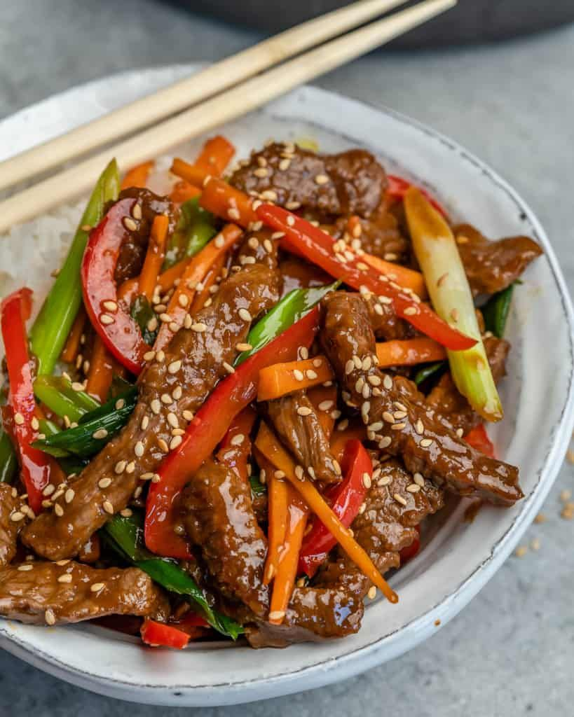 Easy Mongolian Beef Stir Fry Recipe Beef Stir Fry Recipes Mongolian Beef Recipes Mongolian Beef