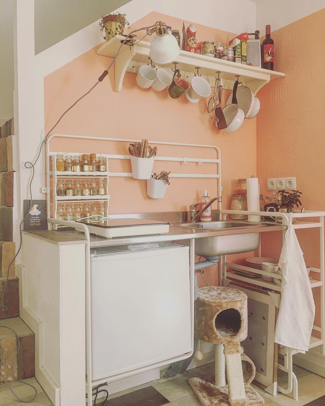 Sunnersta Mini Kitchen Ikea Original Credit Lady Or Tramp On Instagram Hipster Kitchen Ikea Kitchen Design Ikea Hack Kitchen