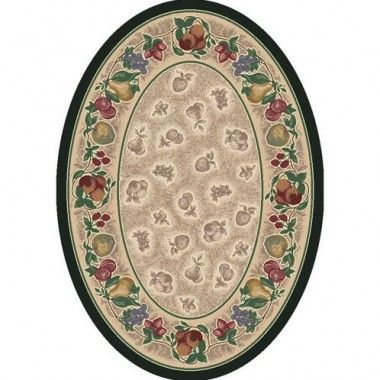 Milliken Signature Carved Tuscany Vine Emerald Antique Oval Rug - 4439C/11000