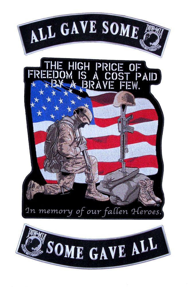 FREEDOM NO GREATER SACRIFICE PATCH FALLEN NOT FORGOTTEN US ARMY AIR FORCE USCG