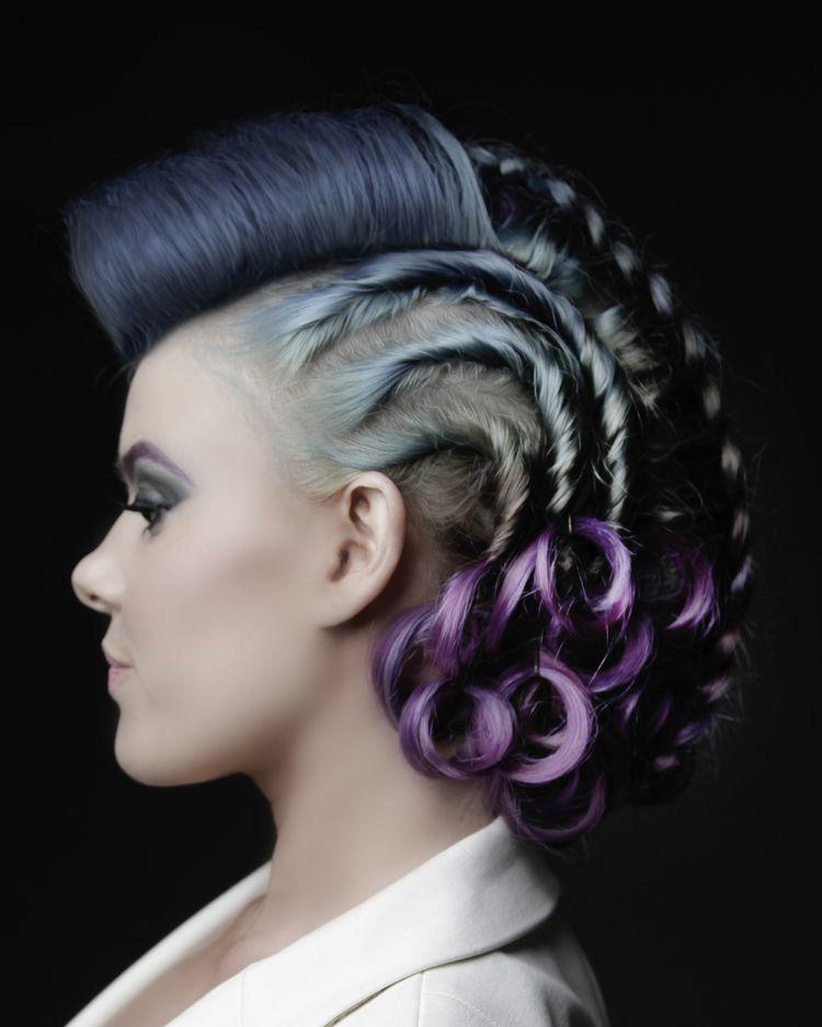 Súper fácil peinados extravagantes Colección De Tutoriales De Color De Pelo - Pin by 連宜蕙 on Artistic haircuts in 2020 | Braided ...