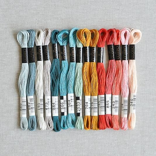 Cosmo Embroidery Floss Palette City Rain 15 Pcs The Workroom