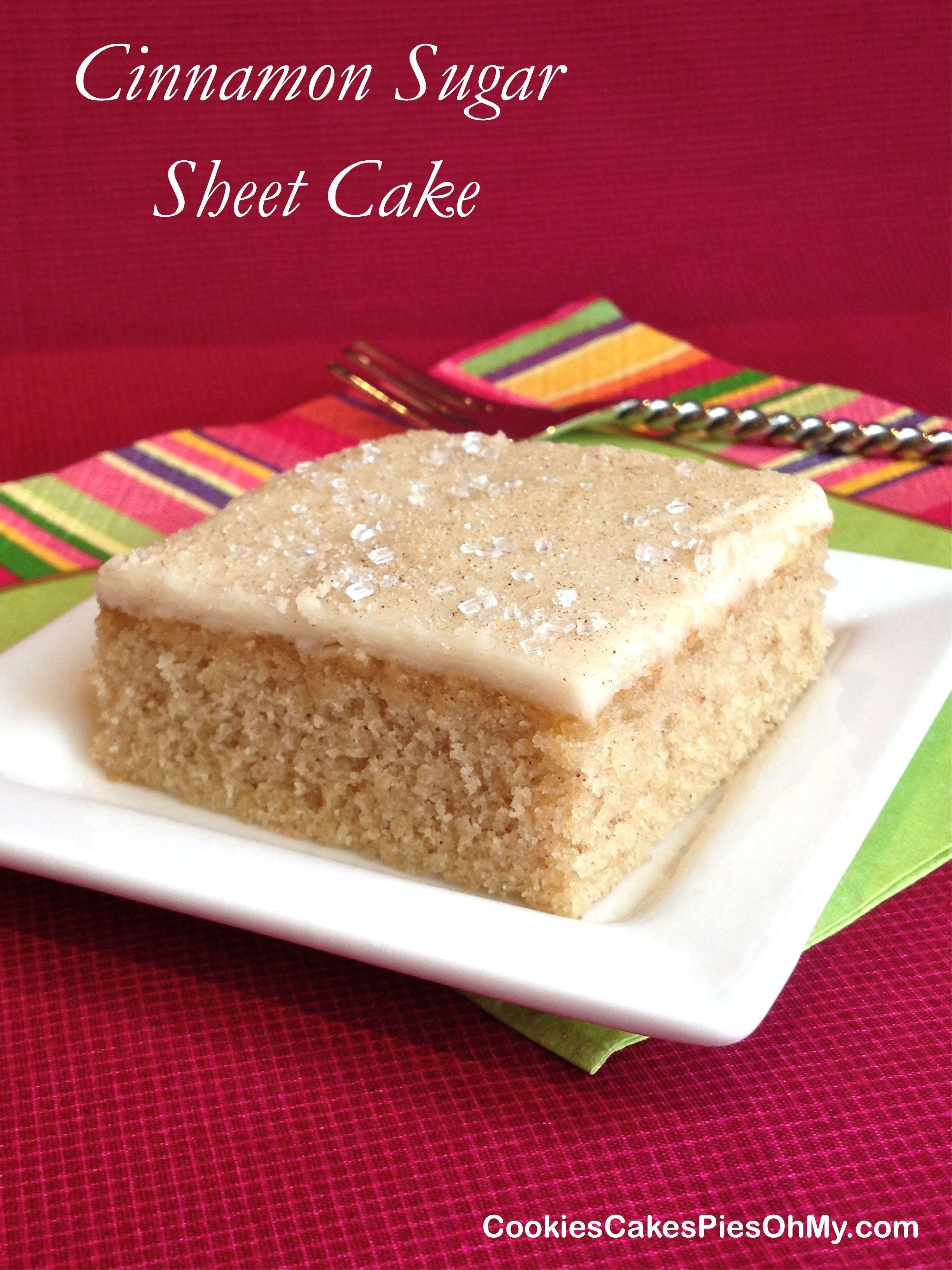 Cinnamon sugar sheet cake dessert cake recipes sheet