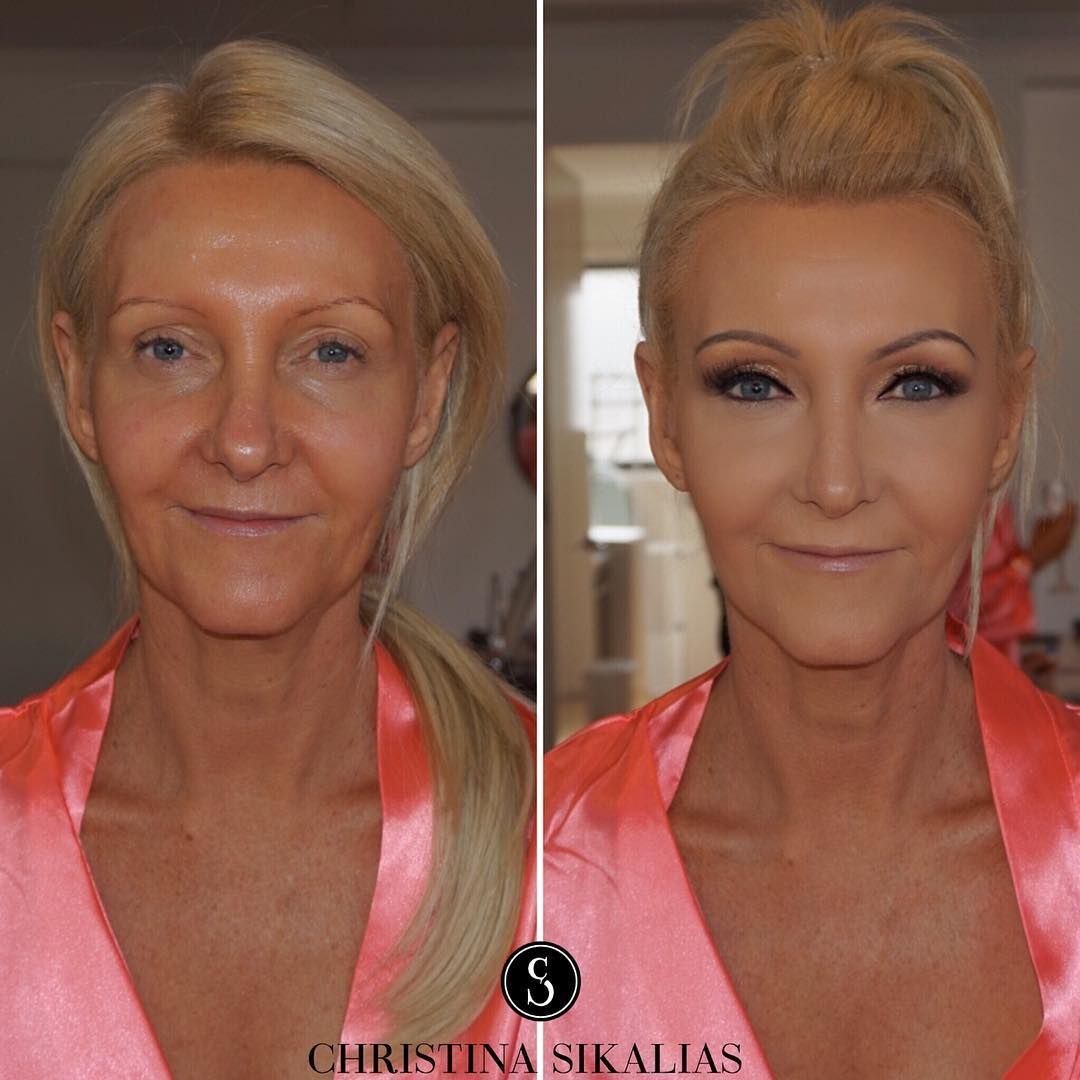 """Mother Of Bride GlamHighlighting and contouring on mature"
