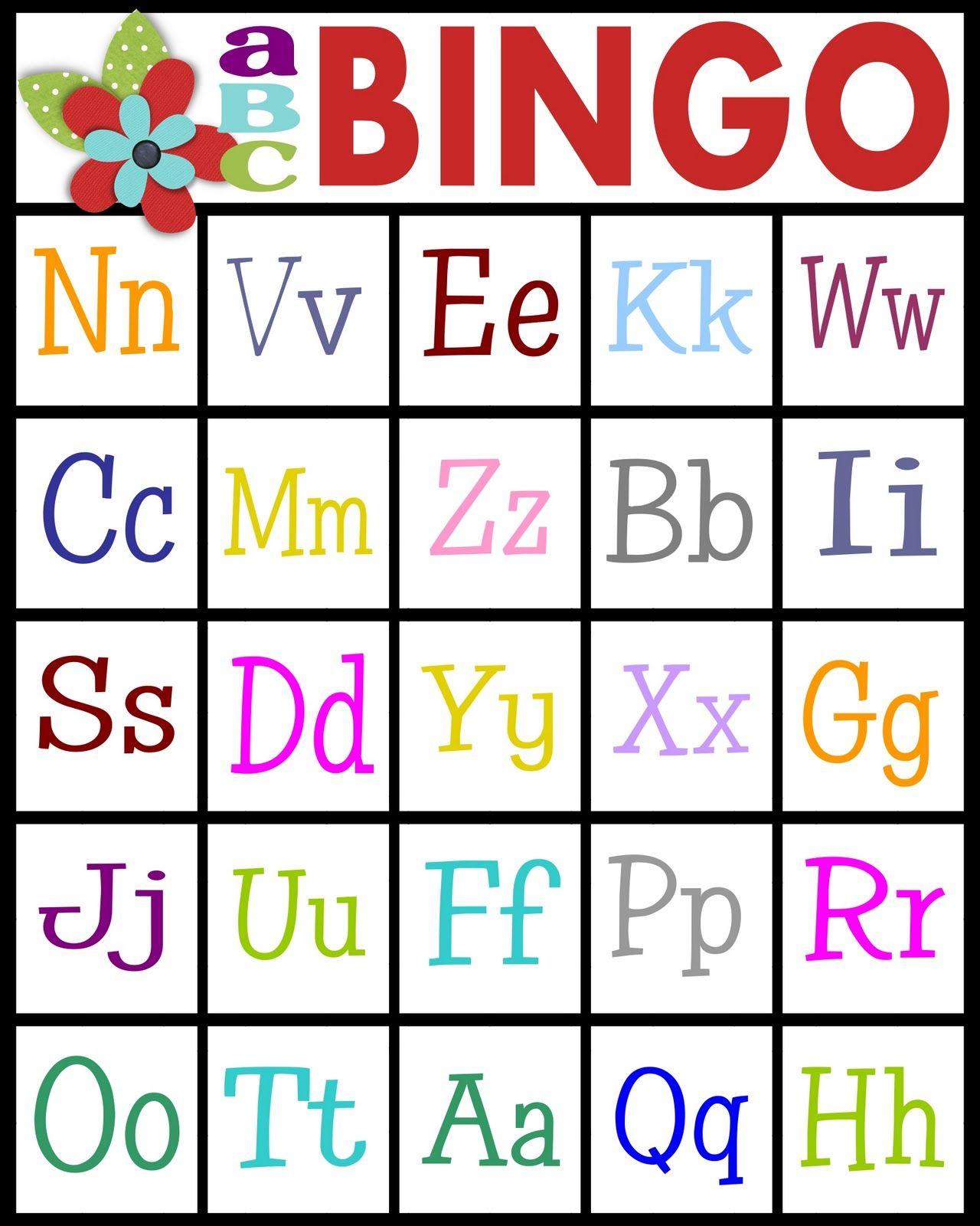 Sassy Sanctuary Abc S Bingo Free Printable Kids Teaching