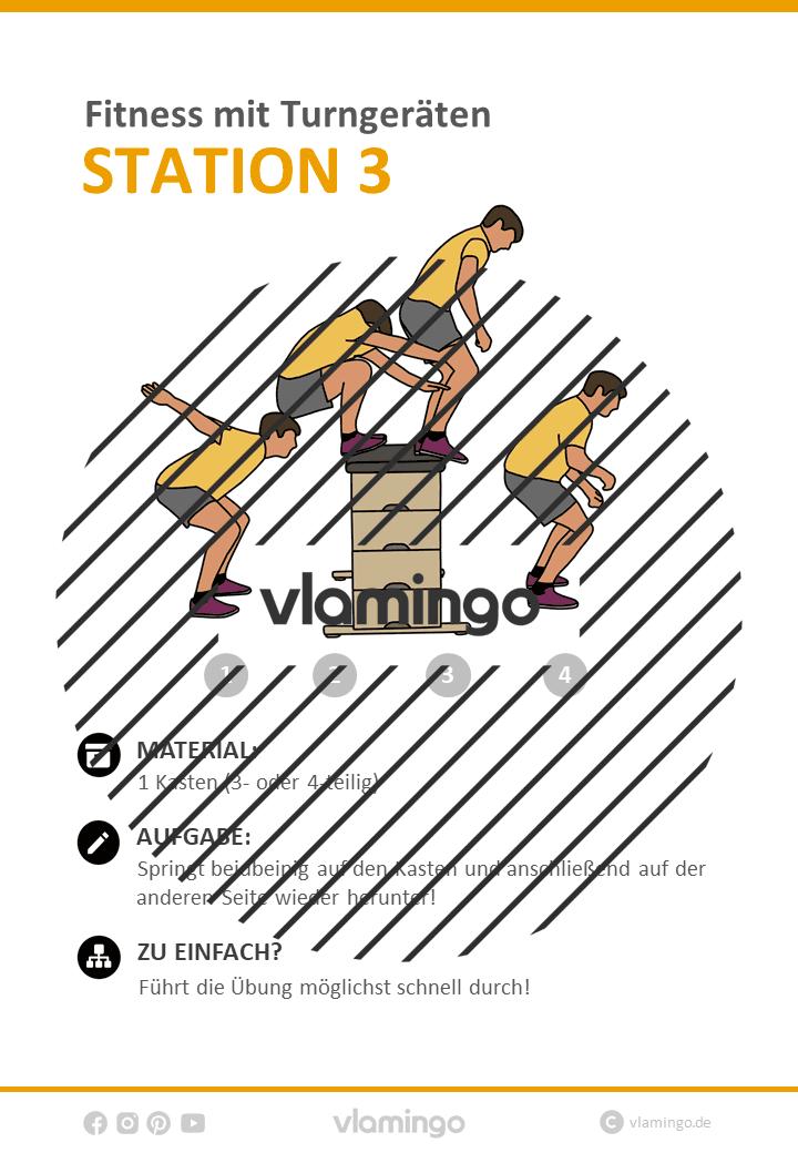 Fitness mit Turngeräten – 34 Stationen / Übungen für den Sportunterricht