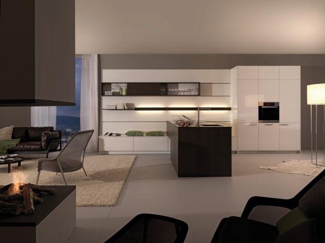 griffloseküchenschränke schwarzweiß grau integrierte