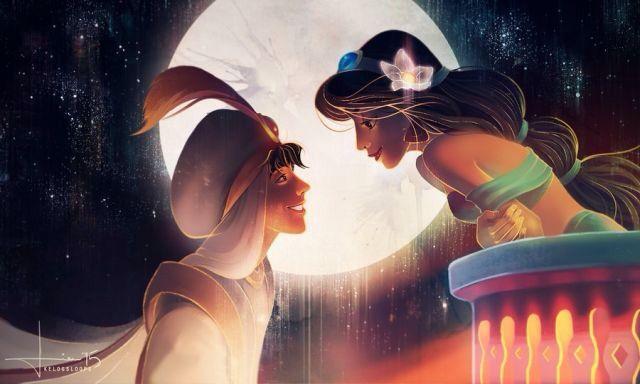 Disney Wallpaper Amazing Fanart Laptop Or Phone Aladdin And Jasmine Disney Fan Art Disney Valentines Disney Art