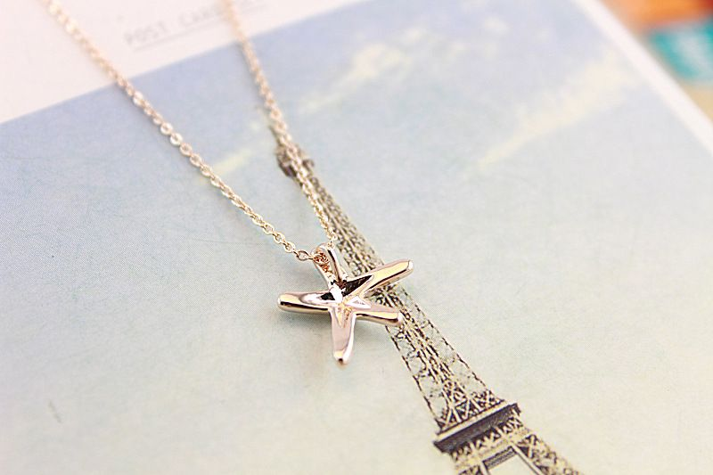 Wow love the necklace /Gold-plated pendant short necklace $9.22