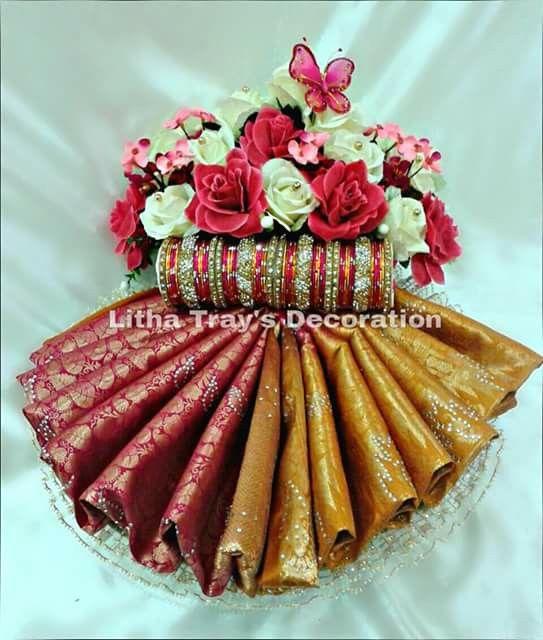 Saree Bangle Deco Event Ideas Pinterest Saree Creative Delectable Saree Tray Decoration