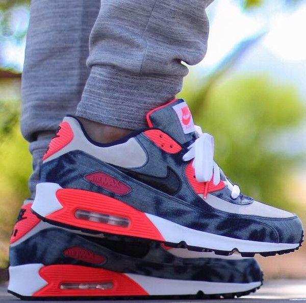 ATMOS X AIR MAX 90 DENIM INFRARED FEATURING LACED UP CLASSIC INFRARED LACES only on www.laceduplaces.com