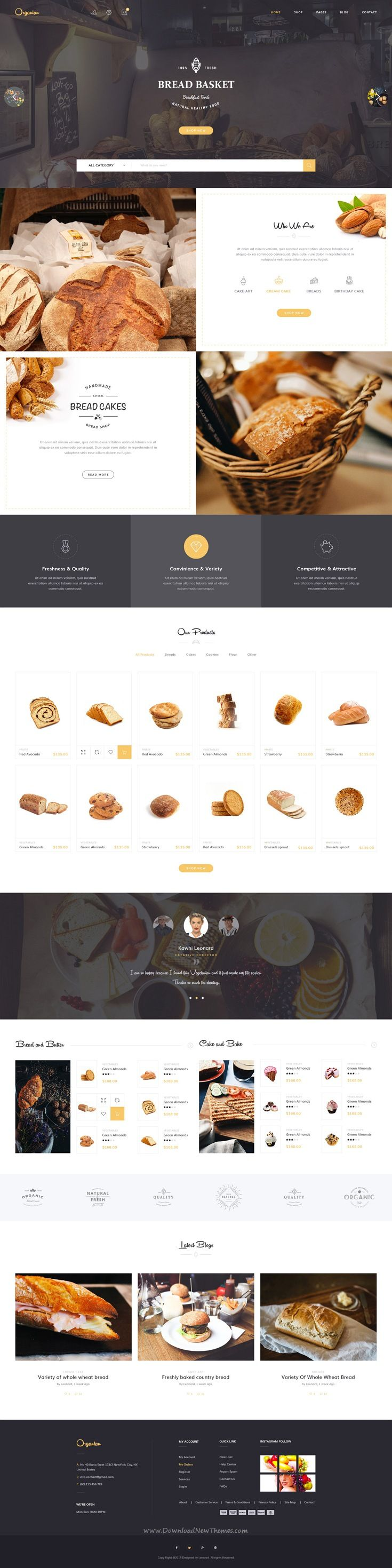 Organian Multiconcept Organic Store Psd Template Layouts