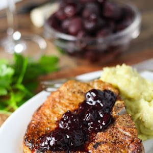 Pork Chops with Cherry Sauce Recipe | Yummly