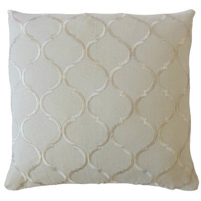 Hampton Burnham Geometric Linen Pillow