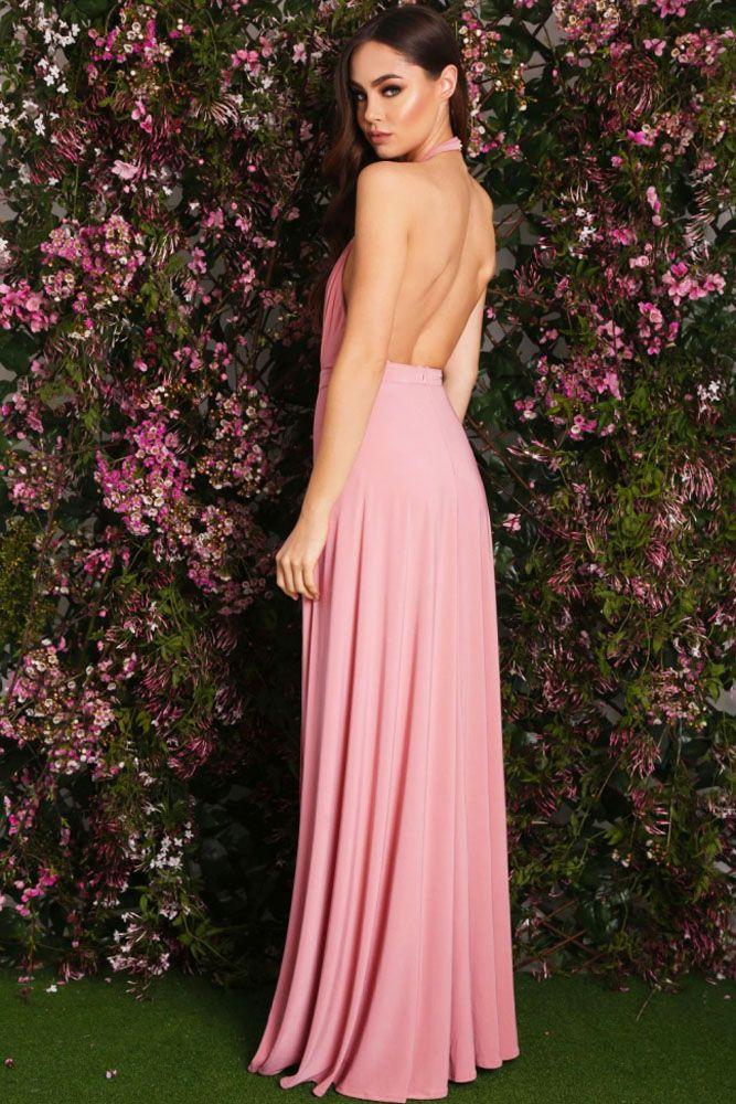 Vestidos Jersey : Vestido largo con aperturas y espalda descubierta ...