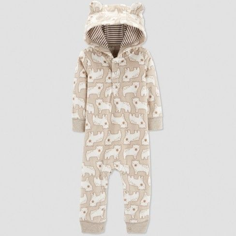 ce7c1f788 Baby Boys' 1pc Bear Jumpsuit - Just One You® made by carter's Oatmeal :  Target