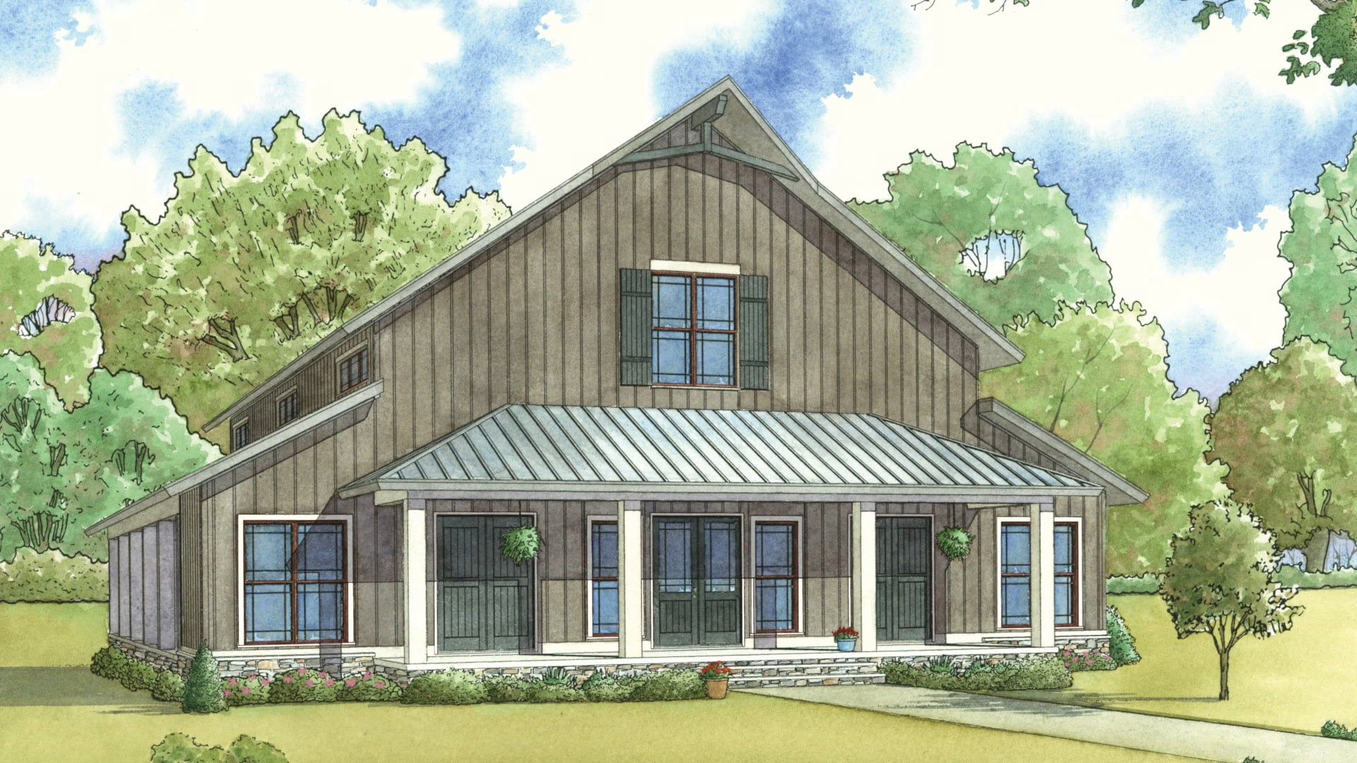 house plan smn 1014 barnwood manor visual open house house plans