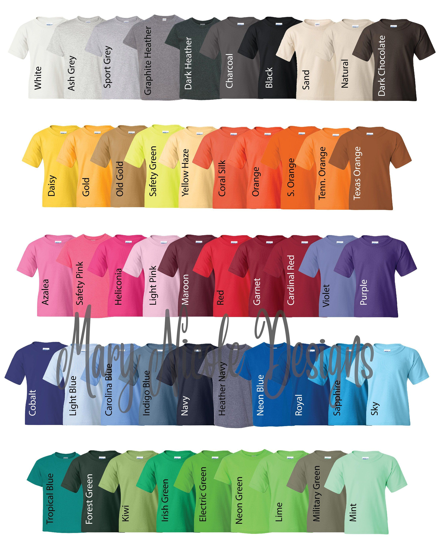 High Quality Gildan T Shirt Color Chart Colorful Shirts Gildan Color Chart Color Chart