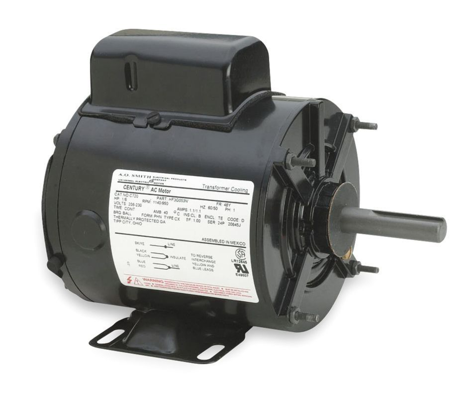 CENTURY C723V1A 2WCE6 1/3 HP Transformer Cooling Fan Motor
