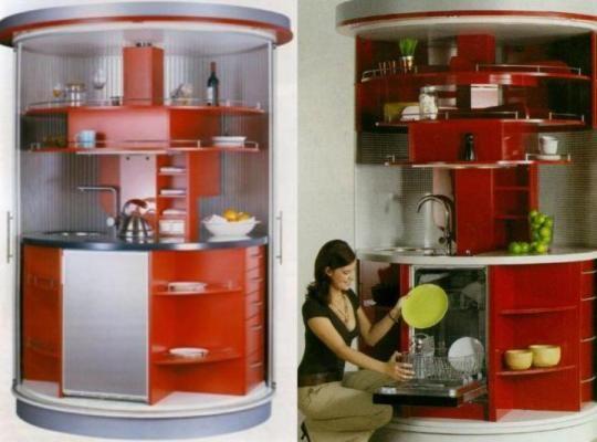 Nuevas tendencias cocinas giratorias cocinas cocinas for Cocinas para espacios pequenos