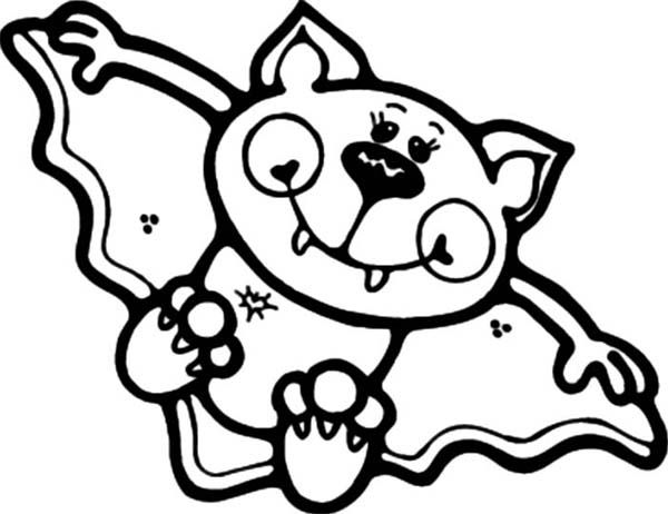 Bats Cute Little Bats Coloring Page