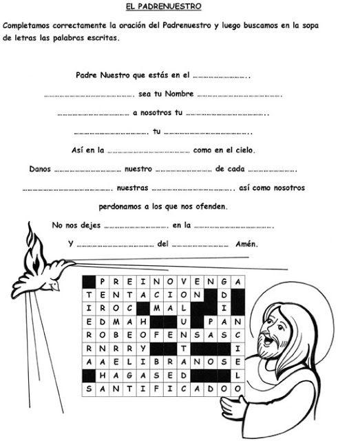 El Rincón de las Melli: Oraciones (Padrenuestro) | Catequesis ...
