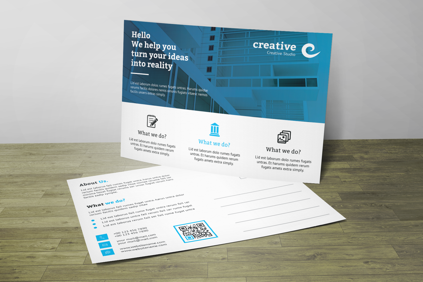Corporate Post Card Ideny Template Corporateideny