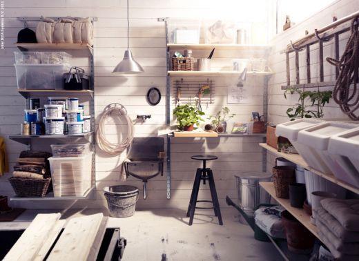 my new garage, via Ikea Förråd Storage area Pinterest Garage