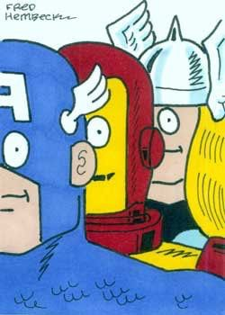 The Avengers by Fred Hembeck   Captain America Iron Man Thor Avengers comic books comics Fred Hembeck