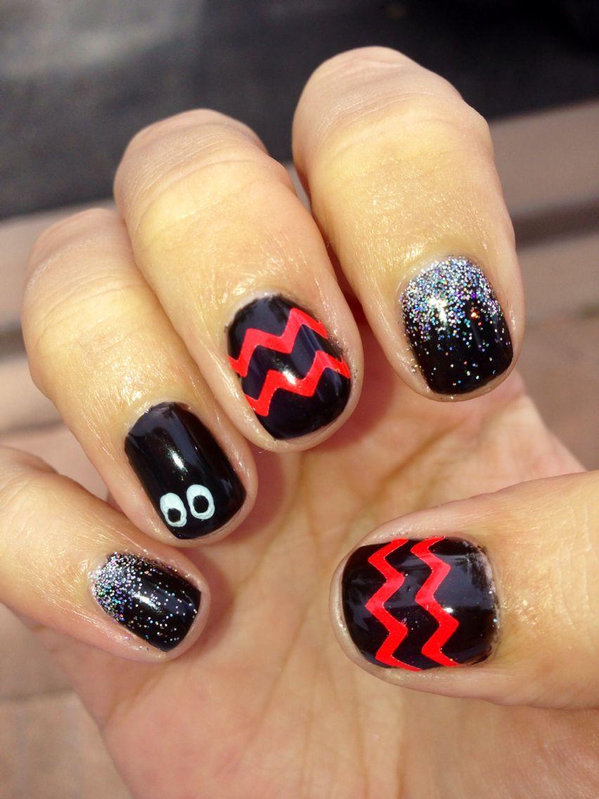 Halloween Shellac nails | Shellac nail designs, Shellac ...