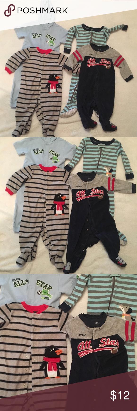 4605982223b1 4 baby boy 9-month-old pajamas PJs onesies