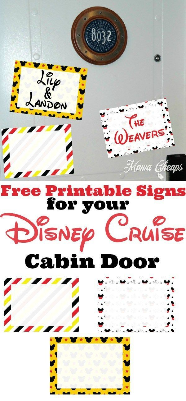 photograph regarding Printable Door Decorations named Cost-free Printable Disney Cruise Cabin Doorway Decorations Generate