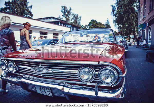 Jurmala Latvija 06062018 Vintage Classic Car Stock Photo (Edit Now) 1570398280