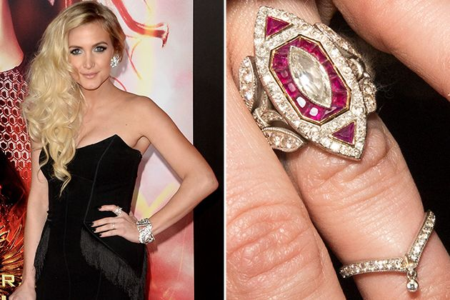 Ashlee Simpson S Engagement Ring From Evan Ross Diana Ross Son
