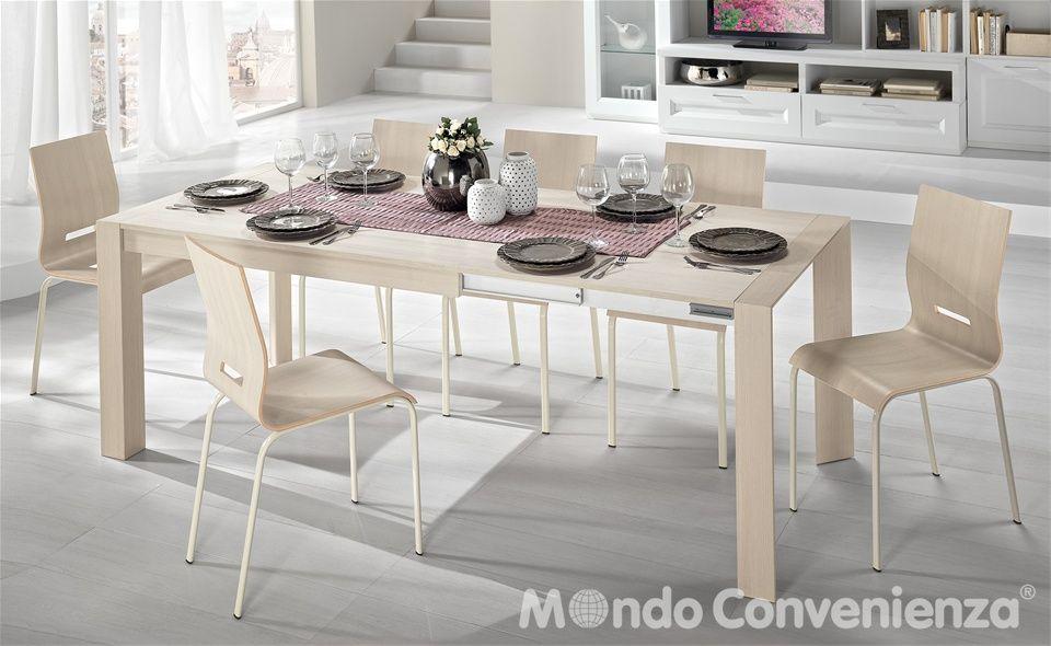 Tavolo e sedia wood mondo convenienza home kitchen for Tavolo mondo convenienza wood