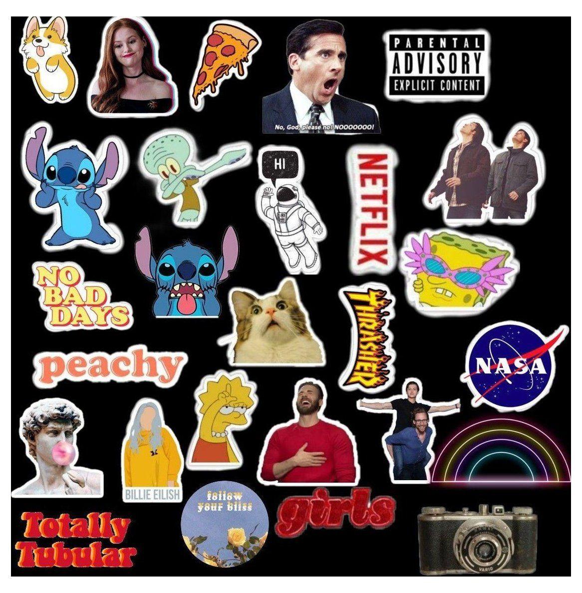 tumblr stickers weird