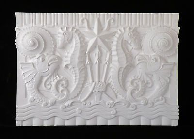 Sea Theme-Sea Horse Plaster Plaque,Hand Made,Orlandini