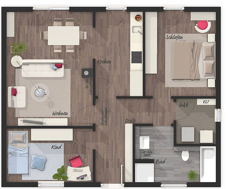 Bungalow 78 – Elegance – floor plan – your Town & Country solid house …  – Grundrisse