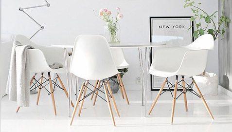 DAW Stuhl Charles Eames Style - Polypropylen Matt - Wohnzimmerstühle ...