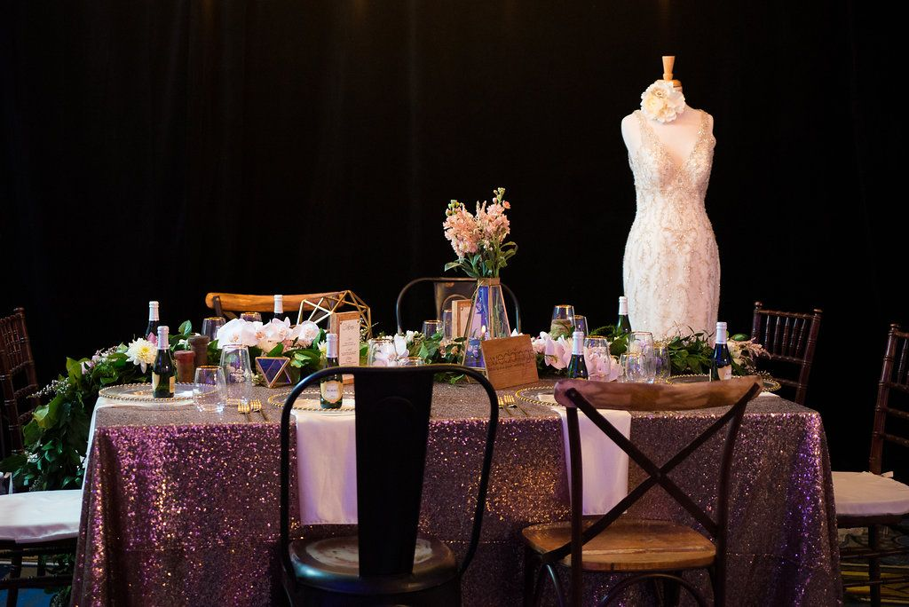 {A Crystal Clear Vision 2015} Linens: Waterford Event Rentals // Designer: Emily Weddings // Photographer: Caitlin Gerres