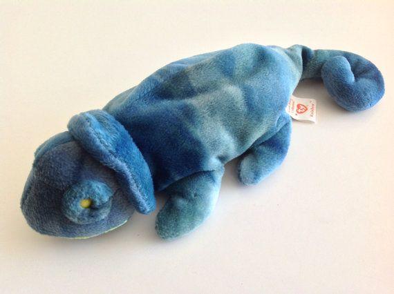 ab1a070fcfc Vintage BEANIE BABY Rainbow Chameleon Iguana by KimmiesKollections ...