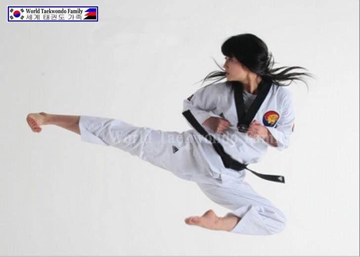 Jump Side Kick Martial Arts Women Women Karate Taekwondo Girl
