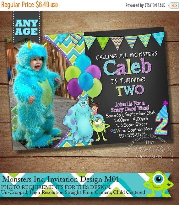Editable Monsters Inc Invitation Template Monsters Inc Photo Etsy In 2021 Monsters Inc Invitations Monster Birthday Parties Monster Inc Birthday